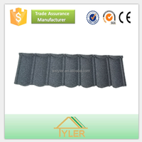 Patterned Metal Roof Shingles/Shingle Stone Coated Metal