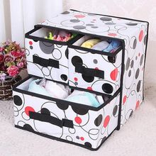 Foldable Drawer-Style Storage Box Waterproof Organizer Containers