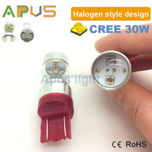High lumen white red yellow Cr.ee 30W W21/5W 7443 12V led brake light