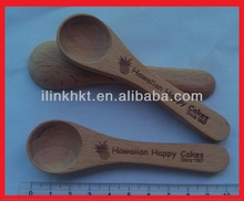 10 CM Spice and Coffee wooden Scoop Spoon