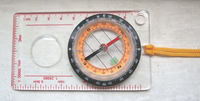 Transparent compass with rule scale Map Compass With Round Magnifier