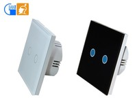 Smart Home Touch Electrical Wall Light Switches Glass Panel