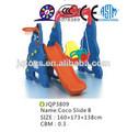 jqp3809 crianças brinquedos deslizamento interno coco slide e balançar as crianças crianças lâminas de plástico