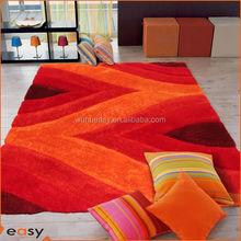 Modern lifestyle 3D design shaggy carpet, plush carpet