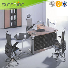 High End Modern Style Metal Frame Executive Office Desk