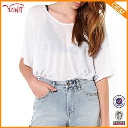 Soft and thin plain bulk wholesale t shirts