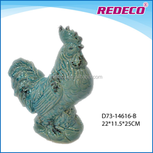 Decorative ceramic garden chicken figurine