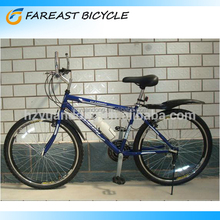 Cheap For Sale 26 Inch 18 Speed Steel Frame Mountain Bicycle With V Brake OEM Manufacturer China Supplier Dark Blue White