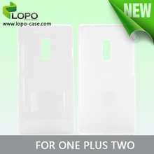 new product white blank 3d sublimation phone case for one plus two
