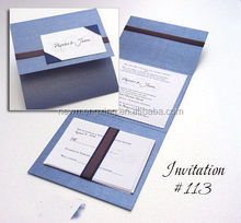 Good quality promotional fold clear paper card holder pocket