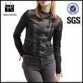 2014 último diseño para mujer pu chaqueta de cuero chaqueta de motocicleta para mujeres con cremallera