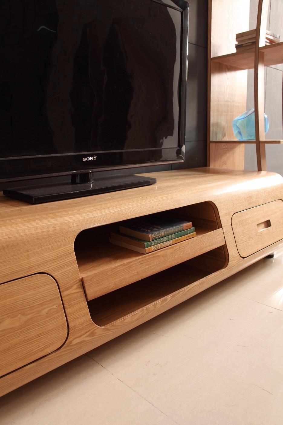 Houten lcd tv hal showcase kast woonkamer meubels ontwerpen houten ...