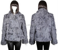 YR127 Whole Skin Fur Coat Lamb Gray Color/Wholesale Fur Coat