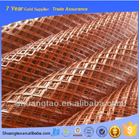 Thick steel expanded metal mesh for window security