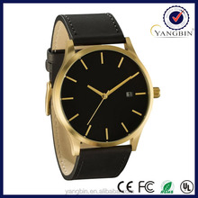 2015 hot new products Ip gold watch japan 50m water resistant