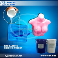 life casting silicone rubber for making human body/silicone mask/prosthetic