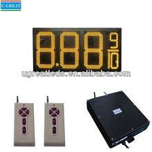 New product used outdoor digital signs sale IP65 waterproof led gas price sign/led numbers