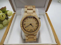 Custom logo High end gift watch natural wood watch wood vogue watches