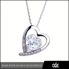 Happy Valentine's Day - Crystal Forever Love Gift Couples Breakable Heart Pendant Necklace