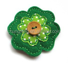 wholesale green fashion four leaf clover hair clip