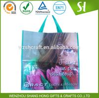 Custom printed laminated non woven tote bag versatile