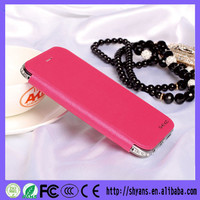 Factory Supply Attractive PU Leather Bling Wallet Fashion Custom Mobile Phone Case