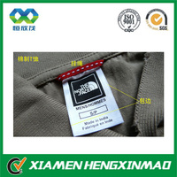 Wholesale fabric label;satin fabric care labels for bag;bag care label
