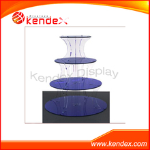 acrylic plexiglass tower display stand 4 tier/layer for food cupcake jewlery