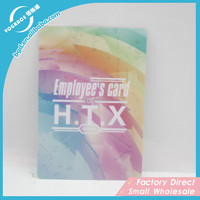 2015 Factory custom plastic business card cheap with punch hole