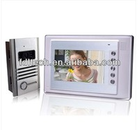 Led video door 7'' color digital video door phone intercom system taking pictures
