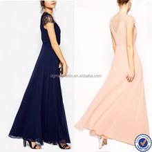 latest dress design petite lace maxi evening dress for wedding ladies summer clothing wholesale manufacturer