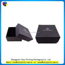 Recycled manufacturer decorated matte black gift paper box