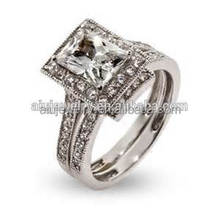 No Tarnish Gold Plated 18K Platinum Plated Wedding Ring