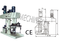 double shaft mixer for pigment