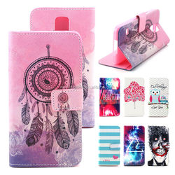 2015 New Design Case For Samsung Galaxy S5 Wallet Flip Leather Case Cover