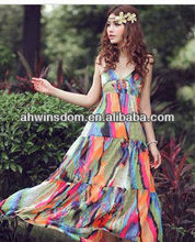 2013 SUMMER NEW BOHIMIAN DESIGN WOMEN'S MAXI BEACH DRESSES