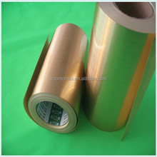 coated Gold aluminium foil paper sticker for Label printing