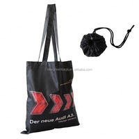 Customized cheap 190T polyester flower design foldable reusable shopping bag, lady fashion bag