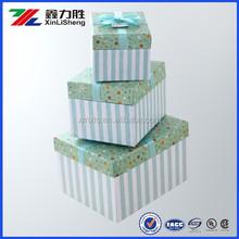 Customized cardboard christmas gift box