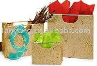 brown paper gift bags with handles creative paper gift bag(FX61)