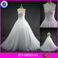 LN41 Real Picture Stunning Beaded Sweetheart Neckline Lace A Line Wedding Dresses China