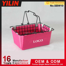 2015 News style small metal wire shopping basket