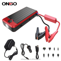 ONBO Rechargeable lithium battery jump starter mini jump starter car power bank 12v oem jump starter with A grade battery cells