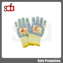 2015 professional bbq oven gloves with silicone grips