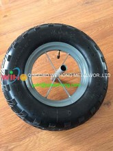 16 Inch Pneumatic Rubber Wheel 4.00-8 For Wheelbarrow