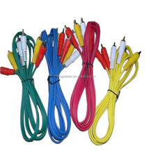 High performance colorful triple RCA cable male to male