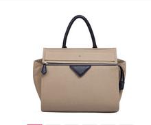 New arrival woman branded design genuine leather tote handbag