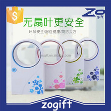 ZOGIFT Safe Children Usb Mini No Leaf Fan Without Blades /rechargeable battery/table No Blade Fan