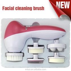 body face exfoliating washing brush ,vibration ultrasonic facial skin beauty machine , sonic face cleanser