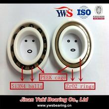 Zirconia rings Si3N4 ZrO2 balls PEEK cage ZrO2 Full ceramic bearing